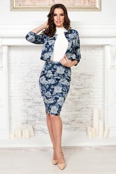 Костюм двойка: юбка и жакет с длинными рукавами Angela Ricci