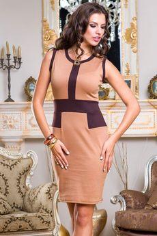 Платье без рукавов в деловом стиле Angela Ricci со скидкой