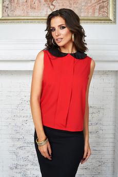 Красная блузка без рукавов Angela Ricci со скидкой