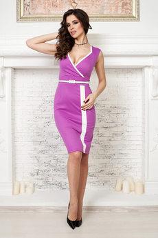 Платье цвета фуксия Angela Ricci со скидкой