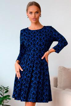 Новинка: синее жаккардовое платье Open-Style